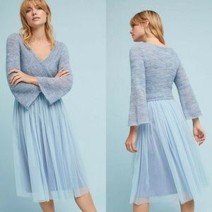 Anthropologie Maeve Dress Layered Arabesque Wool